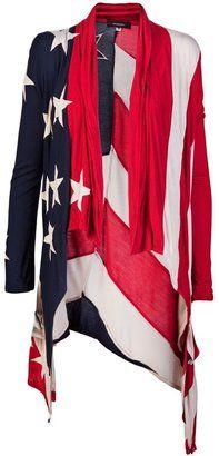 1248d4d8a10 ShopStyle  UNCONDITIONAL American flag cardigan Women s Patriotic Clothing