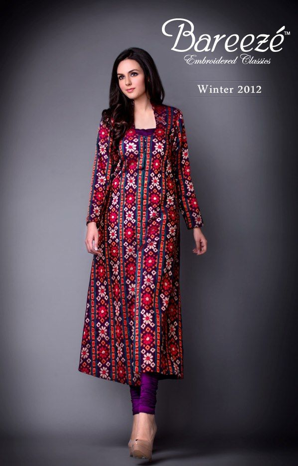 cea042836601 Embroidered Classic Winter Collection By Bareeze