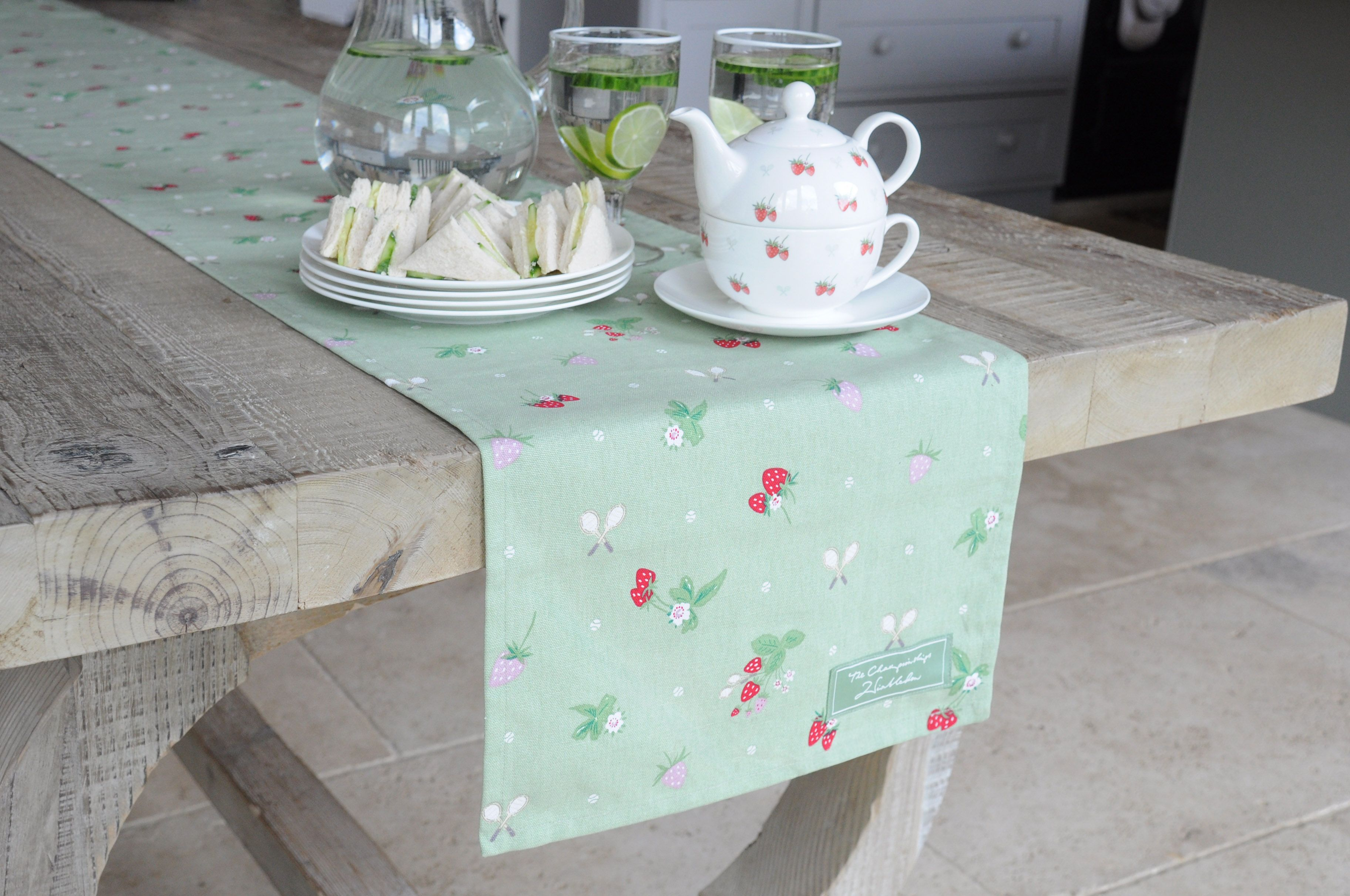 Wimbledon\'s \'Strawberry\' design, by Sophie Allport. Available in ...