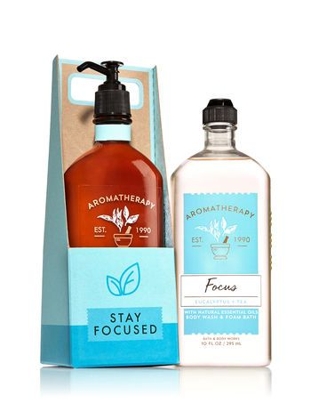 Aromatherapy Focus Eucalyptus Tea Stay Focused Gift Set Bath