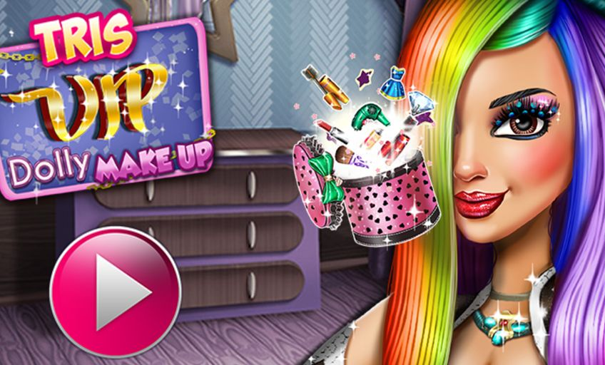 Makeover And Dress Up Games For Girls Tris Vip Dolly Make Up Games For Girls Up Game Cartoon Kids