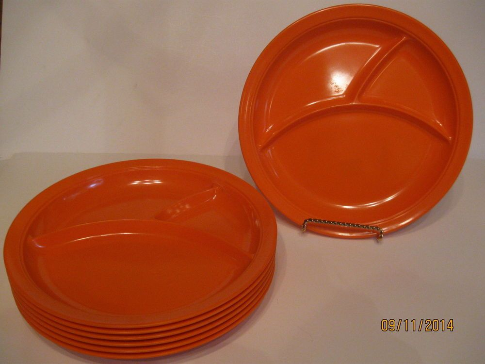Other Collectible Melamine Tableware | eBay. Picnic PlatesDivided ... & Set Of Seven (7) Shin-San Orange Melamine Divided Plates | House Of ...