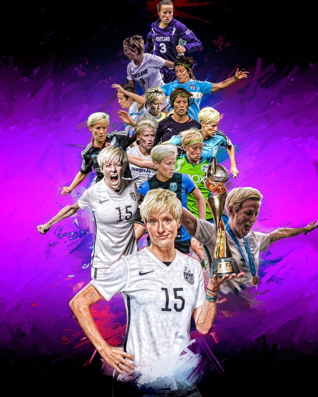 Megan Rapinoe From University Of Portland To Seattle Reign National Team Usa Soccer Team Us Women S National Soccer Team Usa Soccer Women