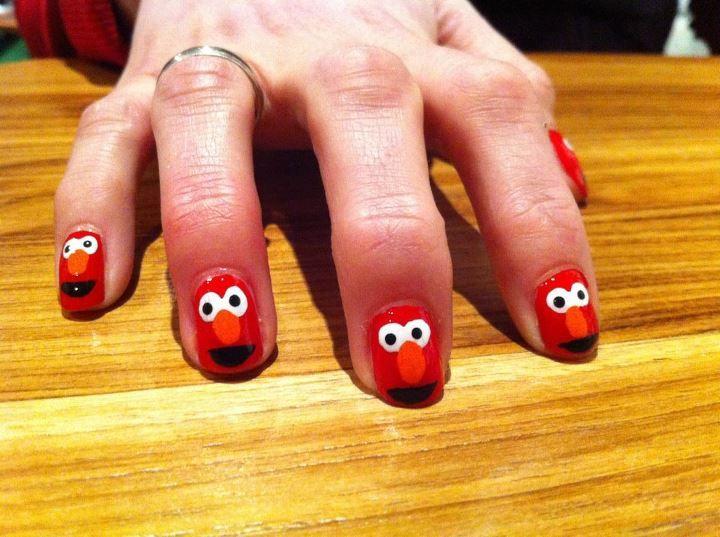 Elmo nails | uñas fashion | Pinterest | Cabello, Maquillaje y Belleza