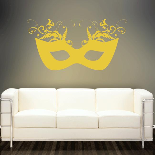 Mask Wall Sticker. http://walliv.com/mask-wall-sticker-art-decal ...