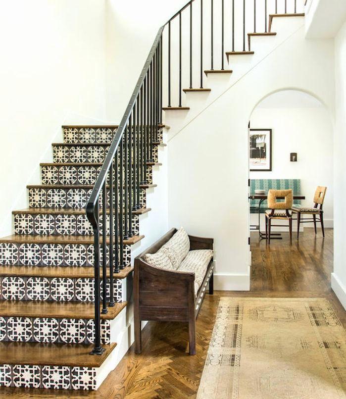 Carreaux De Ciment 20 Facons Originales De Les Glisser Chez Soi Home Decor Escalier Carrele Renover Escalier Et Escalier Carrelage