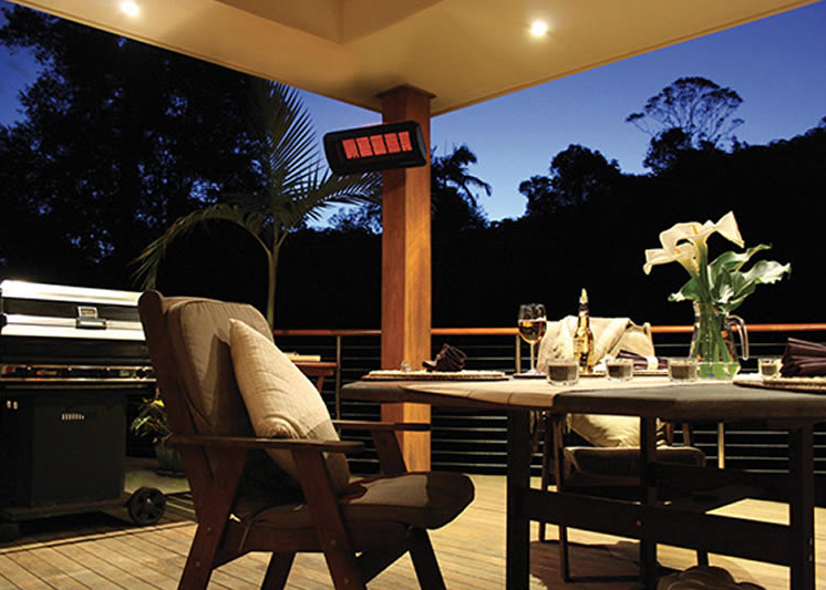 Reaxing Warm Nights With Bromic Heaters Patio Heater Natural Gas Patio Heater Outdoor Living Design
