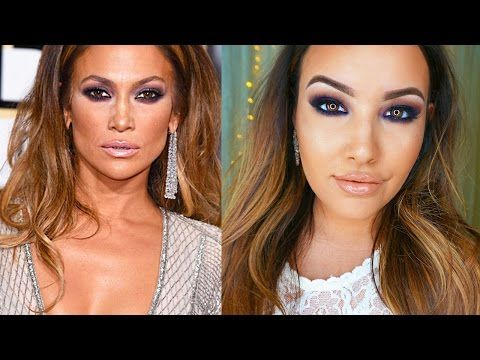 Jennifer Lopez Golden Globes makeup tutorial #jlo #glow