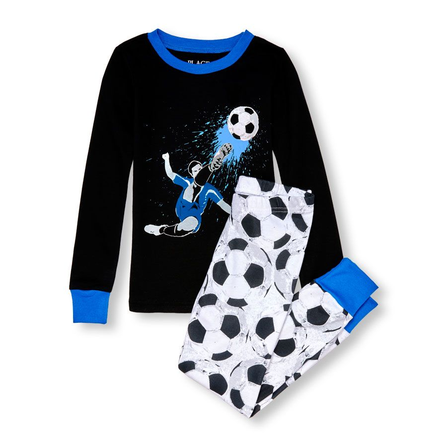 Boys Long Sleeve Glow In The Dark Soccer Top And Soccer