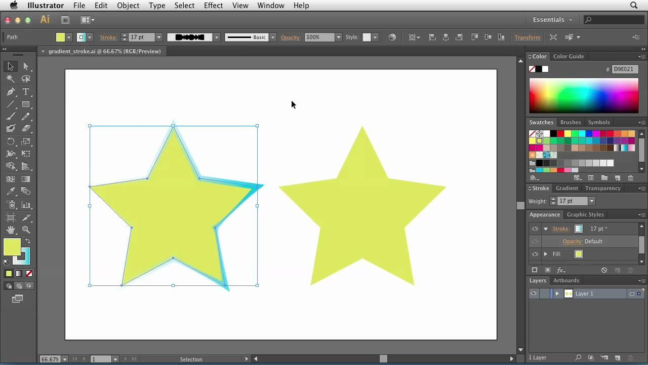 Illustrator CS6 Adding gradients to stroke lines lynda