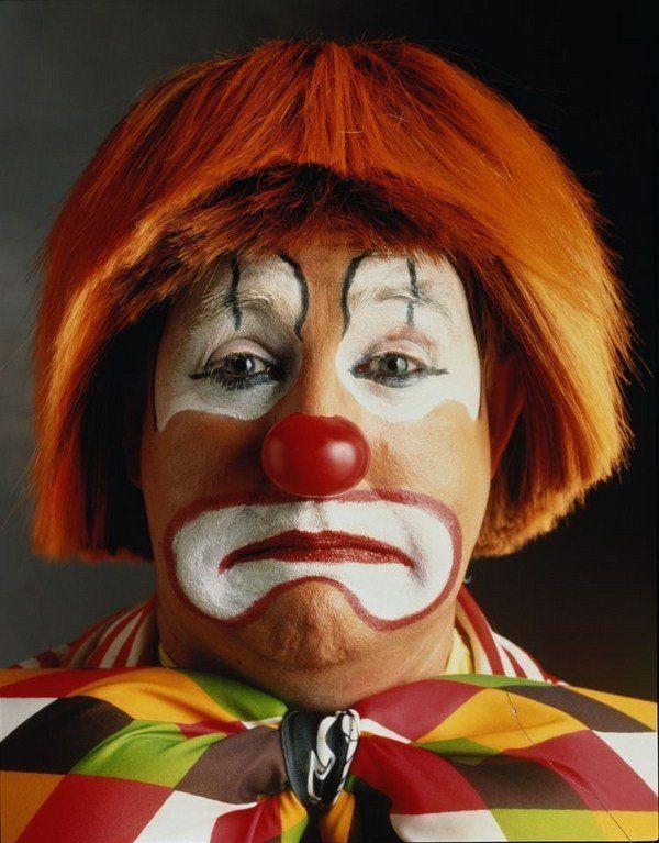 sad clown makeup Halloween makeup ideas red wig red nose easy makeup - clown ideas for halloween
