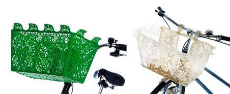 Crochet Bicycle Basket
