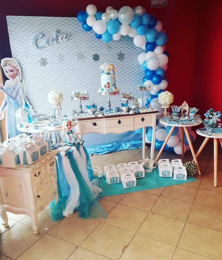 Frozen Birthday Party Ideas Photo 1 Of 19 Frozen Themed Birthday Party Frozen Birthday Theme Frozen Birthday