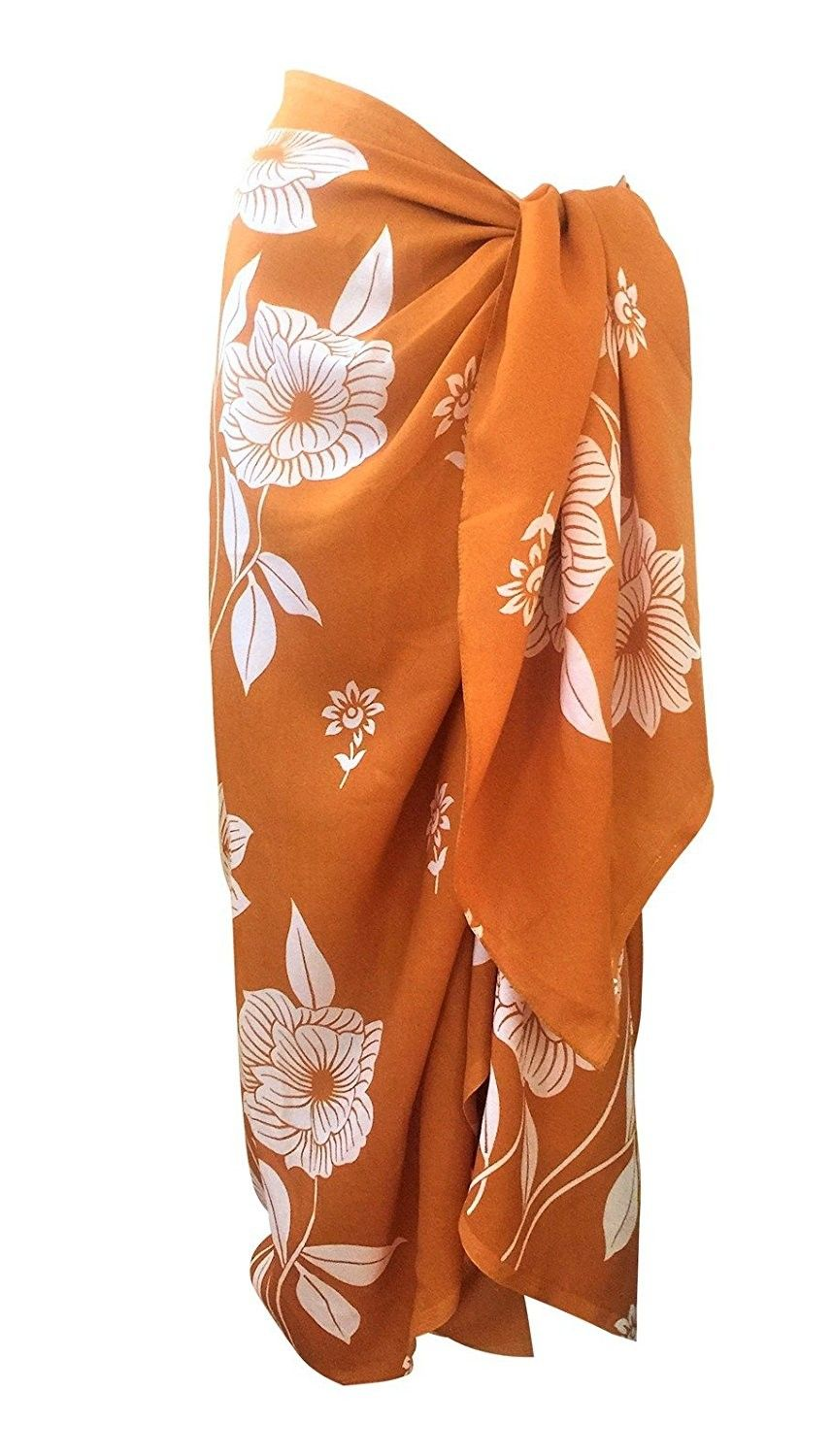 66a2d72846 Women's Clothing, Swimsuits & Cover Ups, Cover-Ups,TC Sheer Chiffon Swim  Beach Sarong Wrap Skirt Cover-up - Brown Floral - CI12ET3IVWJ #Fashion  #Swimsuits ...