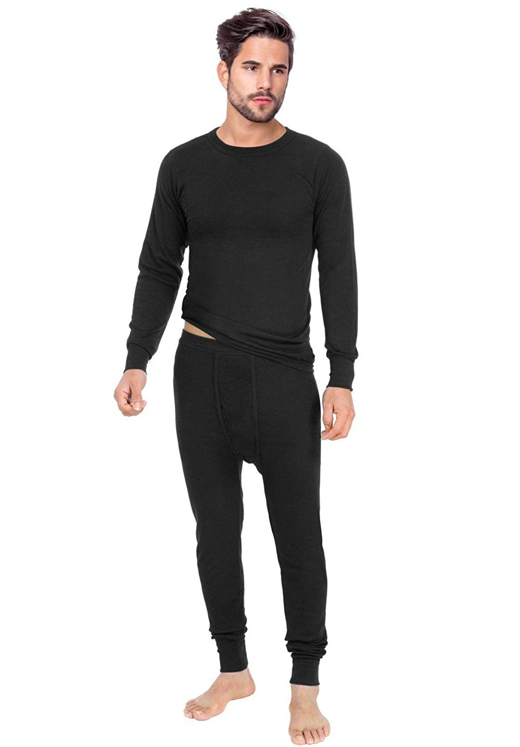 16758adc4206 Rocky Men's Thermal 2pc Set Long John Underwear Smooth Knit ** This is an  Amazon Affiliate link. More info could be found at the image url.