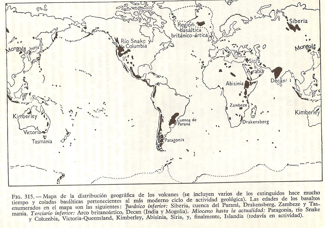 Distribución geográfica de los volcanes en el mundo | Educación ...