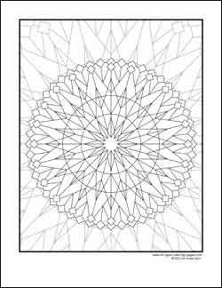 free kalediscope coloring pages - photo#33