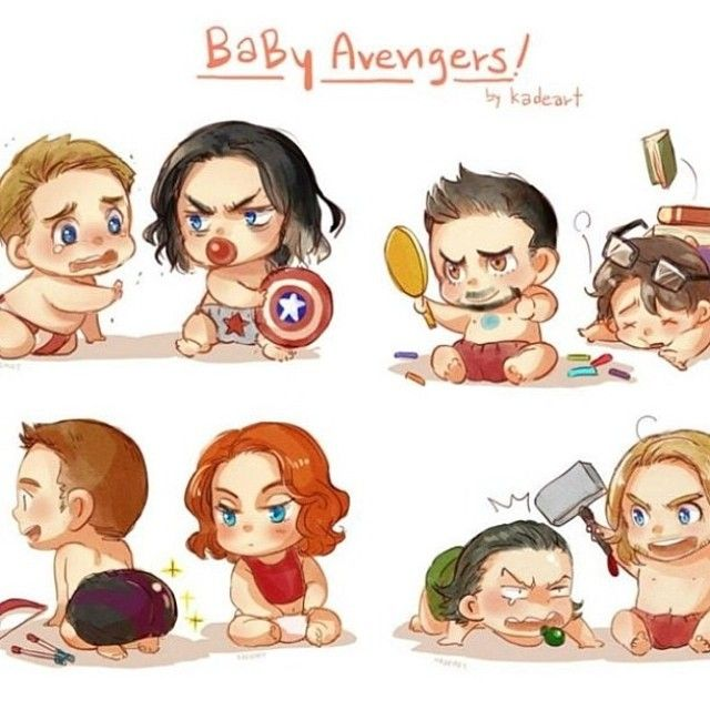 baby avengers fan art out of all of them bruce is