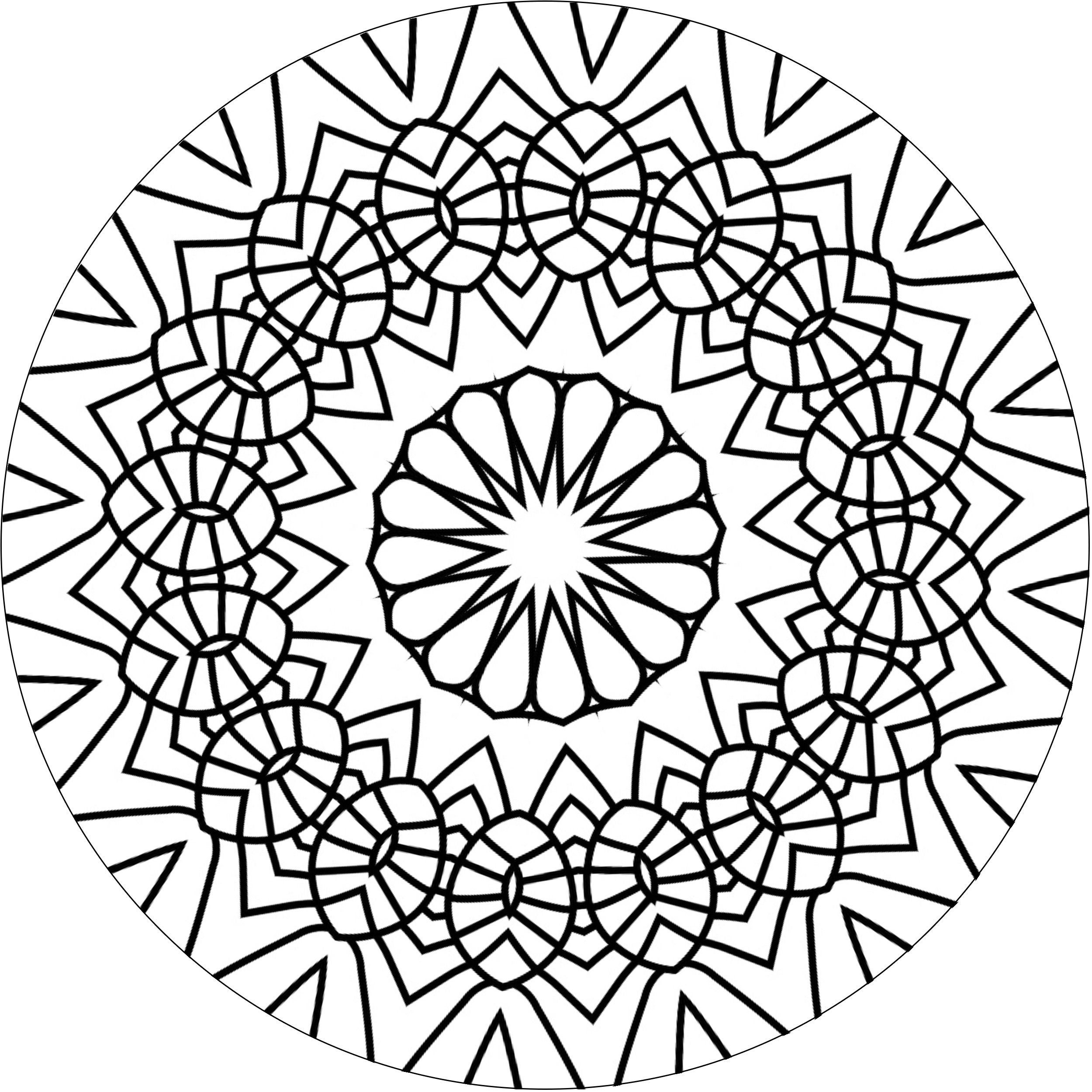 Check more on my book at http://www.amazon.com/Art-Mandala-Coloring ...