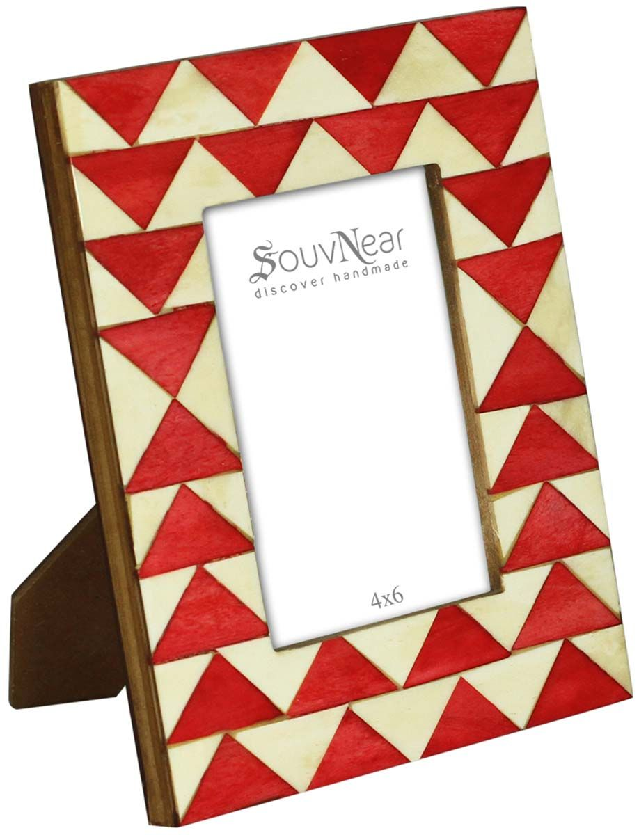 Bulk Buy 3.5x5 Inches Pale White & Red Picture Frame - Wholesale ...