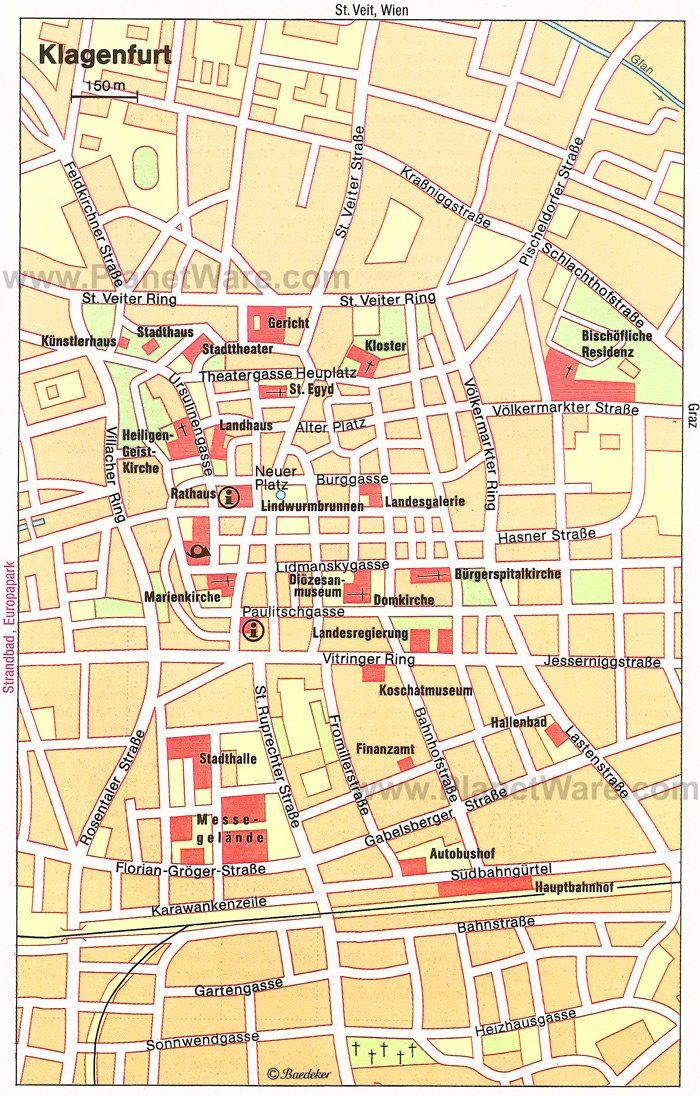 Klagenfurt Map - Tourist Attractions | travel | Klagenfurt ...