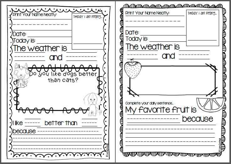 second grade writing mini lessons