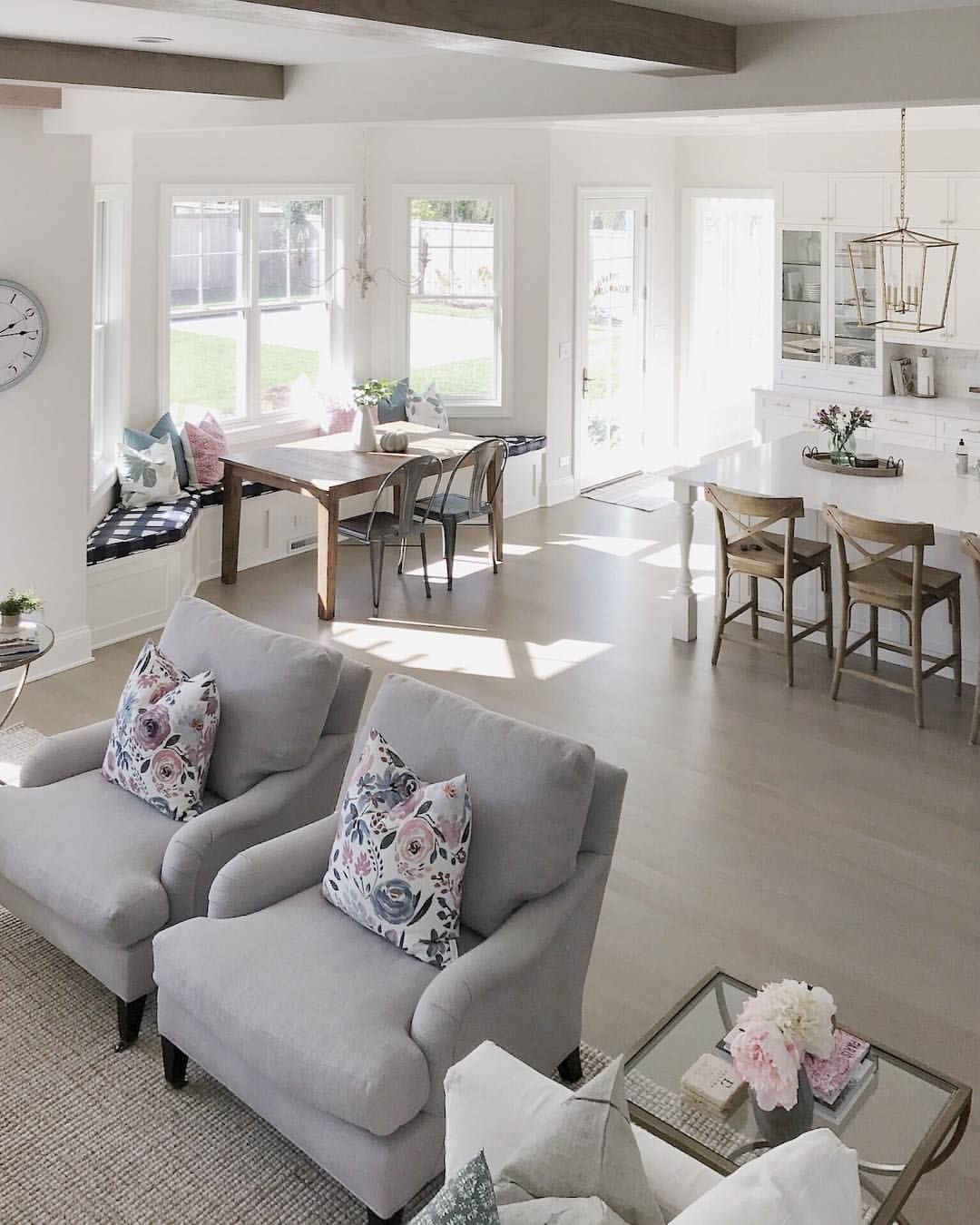 Open Concept Kitchen And Living Room Décor: @lifeoncedarlane Living Room Decor, Open Concept, Open