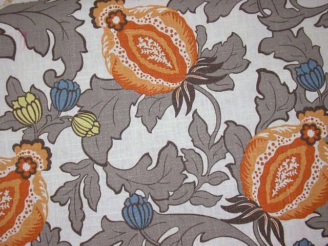 TNT Elisha Mandarin,Richloom Elisha Mandarin,Elisha Mandarin,Richloom Floral, Floral Fabric, Richloom Jacobean,TNT Floral          BUY NOW:  http://shop.thefabricfinder.com/TNT_Elisha_Mandarin.aspx