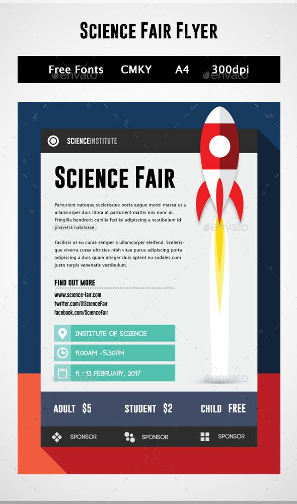 Science Fair Flyer Industry Specific Business Cards Download