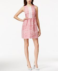 6164bf4a2f5 kensie Appliqué-Detail Jacquard Dress