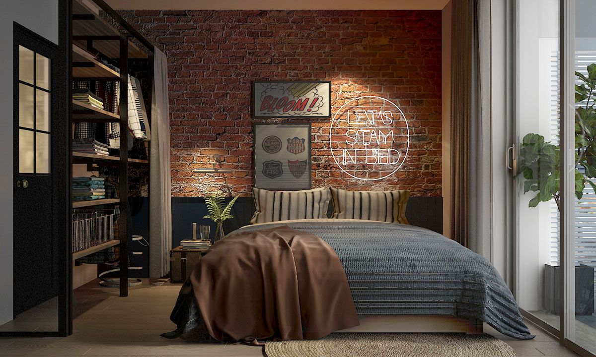 Four Types Of Industrial Style Decor Industrial Bedroom Design Industrial Interior Living Room Industrial Decor