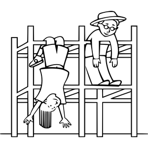 Kids On A Jungle Gym Football Coloring Pages School Coloring Pages Coloring For Kids