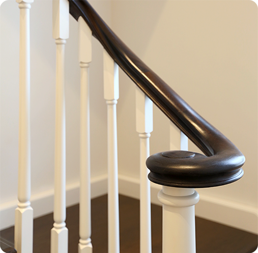 Best Joinery With Wreathed Handrail Staircase Joinery Handrail 400 x 300