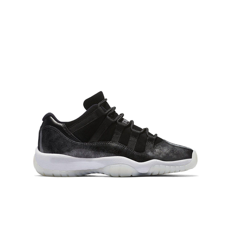 Unisex Shoes 155202: Jordan Retro 11 Low Barons Black White-Metallic Silver  (Gs