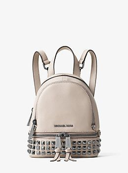d8044d321c8b Rhea Extra-Small Studded Leather Backpack by Michael Kors | Bags and ...