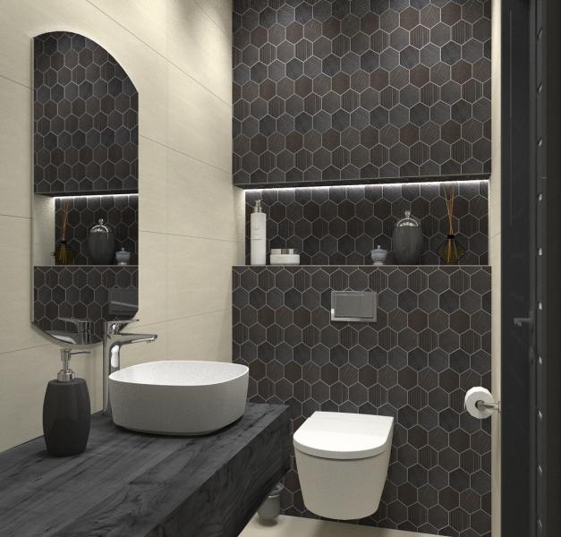 Foornipl Projekt Małej Toalety W Beżach I Brązach
