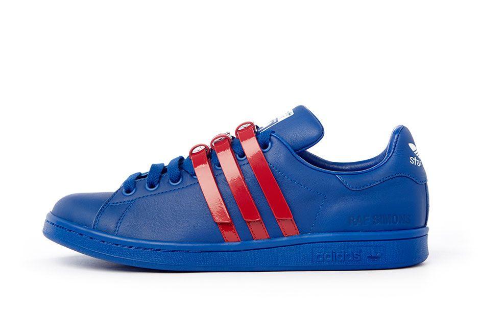 Raf Simons x adidas Originals Stan Smith: Blue/Red