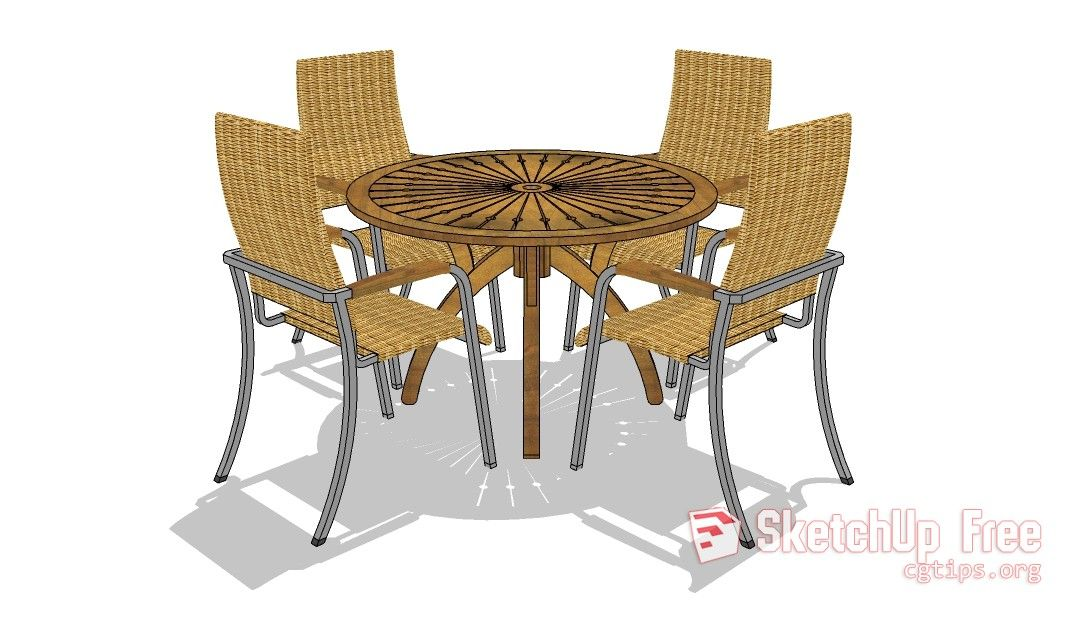 26 Table Chair Sketchup Model Free Download Table And Chairs