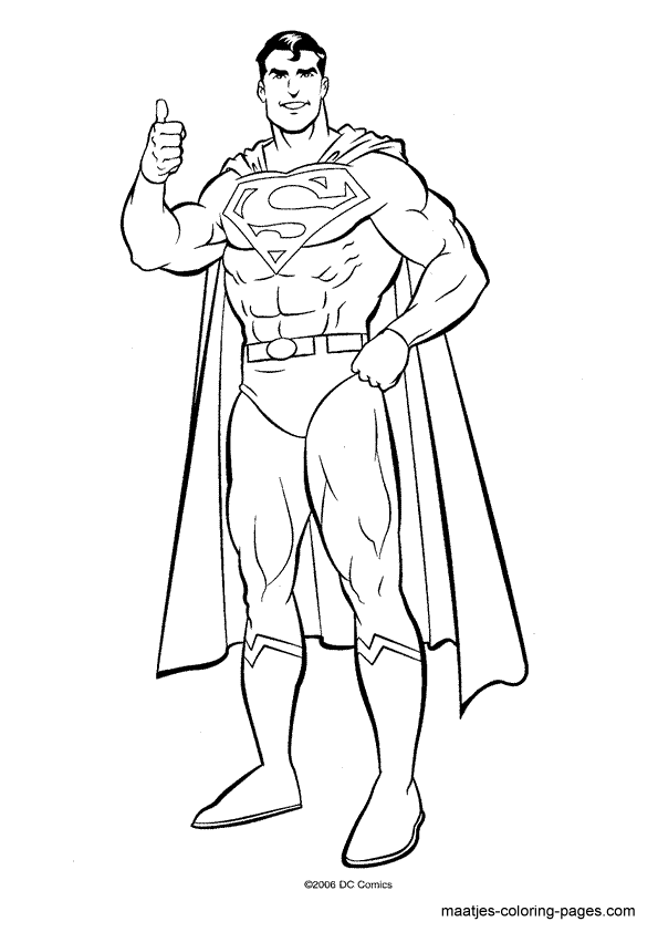 Superman Coloring Page Superhero Coloring Pages Superman Coloring Pages Superhero Coloring