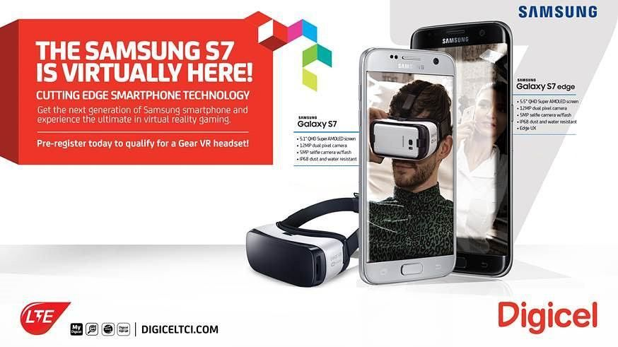An awesome Virtual Reality pic! The Samsung S7 is virtually here!  Get the next generation of smartphone with cutting edge technology & the ultimate in virtual reality gaming.  Pre-register in store TODAY!  #SamsungS7 #S7 #TCI #VRGear #Octulus #CuttingEdge #DigiFam #DigiLife #VirtualReality #VRGaming #Smartphones #TurksandCaicos #GreatDeals #Promotions #BrandNew by digiceltci check us out: http://bit.ly/1KyLetq