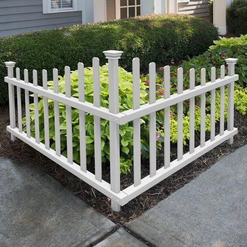 Using Old Fence Pickets For Accent Wall: Ashley Vinyl Corner Picket Accent