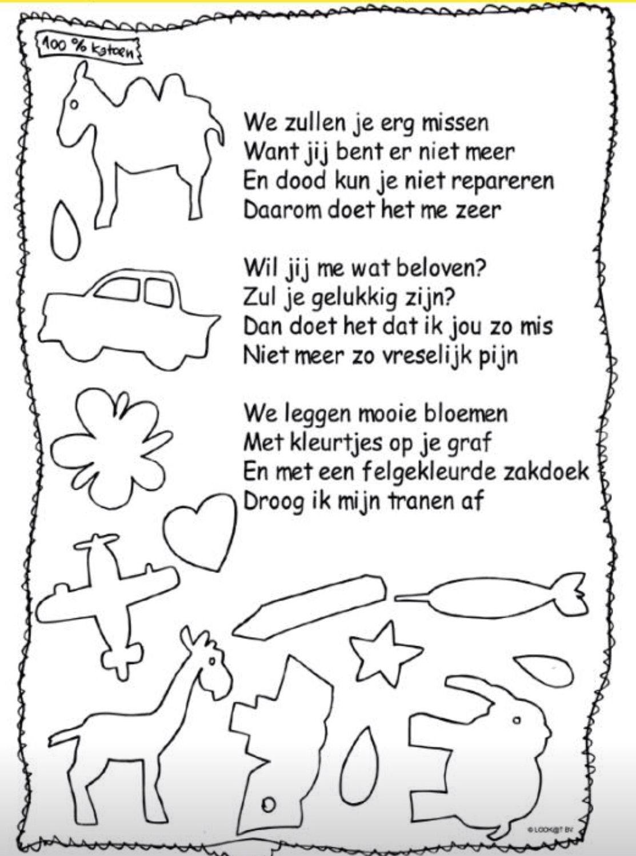 gedichtje voor jonge kinderen afscheid verlies