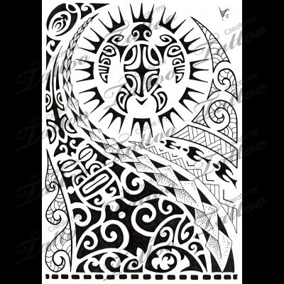 Marketplace tattoo polynesian half sleeve 02 8516 for Custom tattoo armrest for sale