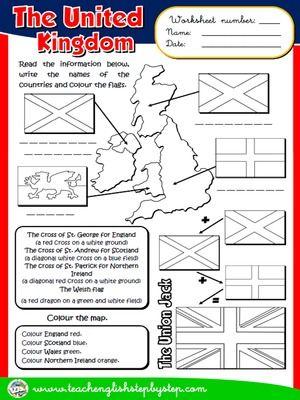The United Kingdom - Worksheet   Arbeitsblätter   Pinterest ...