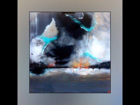 démonstration de peinture abstraite (13) elisabeth - toile ... - Comment Faire De La Peinture Fluorescente