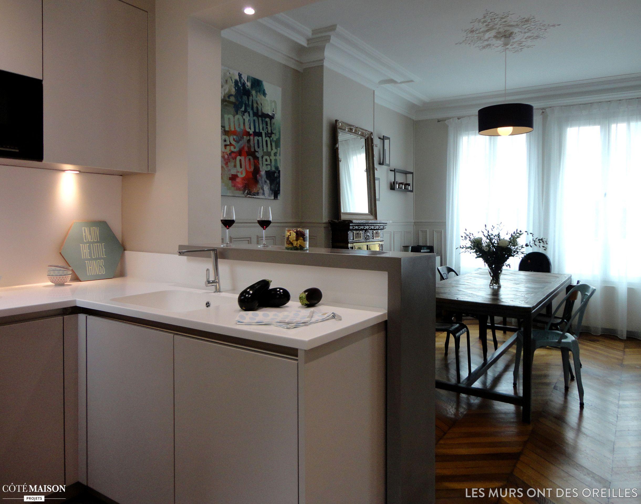 Une cuisine ultra chic levallois les murs ont des for Deco cuisine 6m2