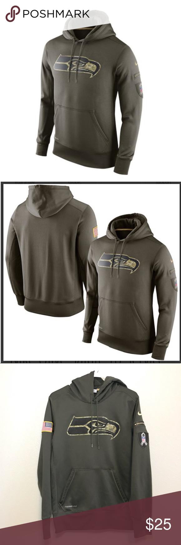 info for d6610 b4382 NIKE Seahawks • salute to service Hoodie Nike salute to ...