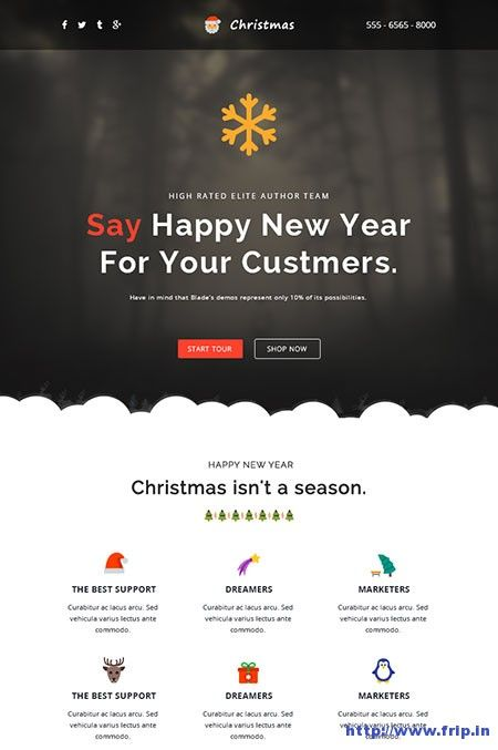 20 Best Christmas New Year Email Templates 2019 Frip In Responsive Email Template Email Templates Responsive Email