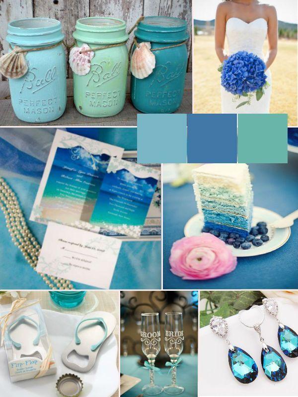 cheap blue pocket beach wedding invitation kits - Beach Wedding Invitations Cheap