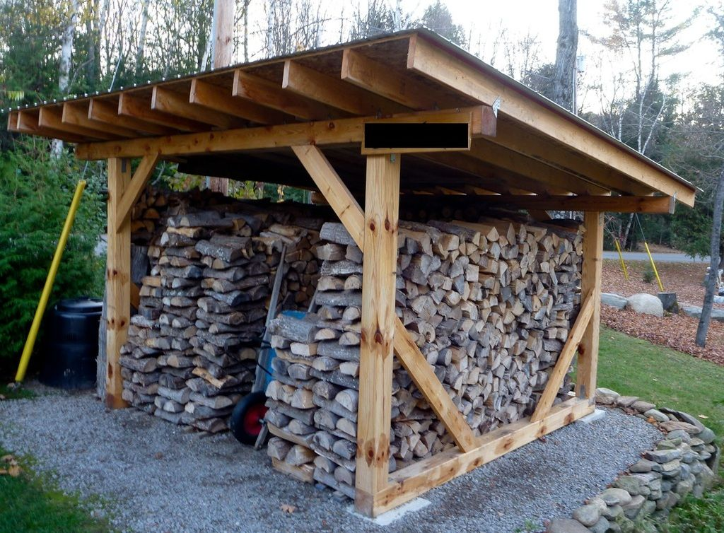 Firewood Storage Shelter : Building a wood shed … organized pinte…